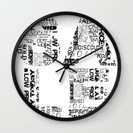 Sale message Wall Clock