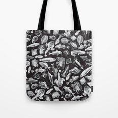 Aquatic I: White on Black Tote Bag