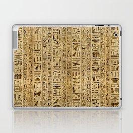 Egyptian hieroglyphs on papyrus Laptop & iPad Skin