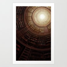 The Great Library Art Print