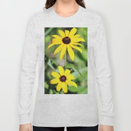 Brown Eyed Susan in Horicon Marsh in Wisconsin Long Sleeve T-shirt