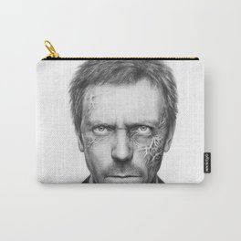 House MD Zombie Portrait Hugh Laurie Carry-All Pouch