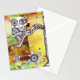 Surreal Owl 3 Stationery Cards