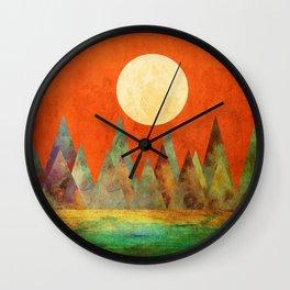Many Moons Ago, Abstract Landscape Art Wall Clock