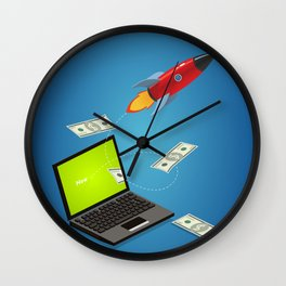 project launch Wall Clock