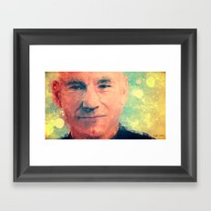 Sir Patrick Stewart Framed Art Print