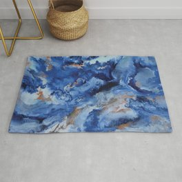 Depths of the Sea - Mixed Media Painting Rug