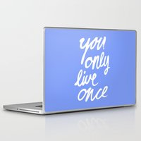yolo Laptop & iPad Skins featuring YOLO by Pink Berry Patterns