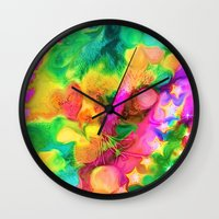 camouflage Wall Clocks featuring Camouflage by Geni