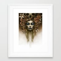 dia de los muertos Framed Art Prints featuring Dia de los Muertos by Marc Potts