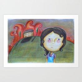 Burnt Heart Art Print