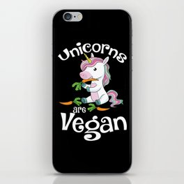 Unicorn Statement: Unicorns Are Vegan I Vegetable I Carrot iPhone Skin