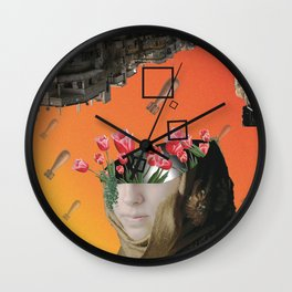 Flower of Syria Wall Clock