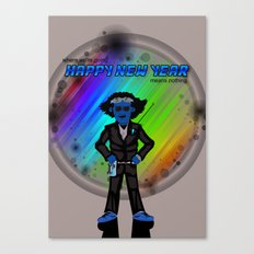 Happy New Year in the Future Canvas Print