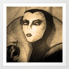 evil queen -snow white Art Print