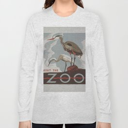 Vintage poster - Visit the Zoo Long Sleeve T-shirt