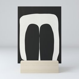 Holding On Black White Mini Art Print