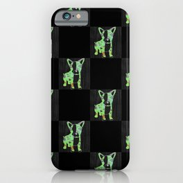 Neon French Bulldog iPhone Case