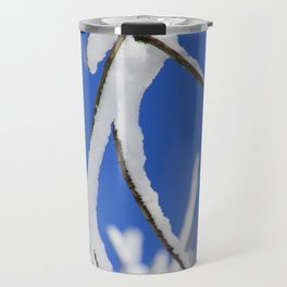 Snow capped branches Travel Mug