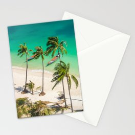 An Aerial view of a Scenic Beach in Thailand Stationery Cards