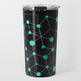 Cool Bitcoin crypto currency block chain Travel Mug