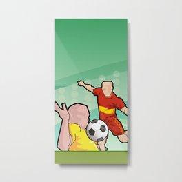Soccer game Metal Print