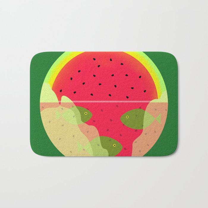 Watermelon Underwater Scene Bath Mat