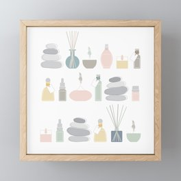 Aromatherapy, Yoga, Meditation and Mindfulness Framed Mini Art Print