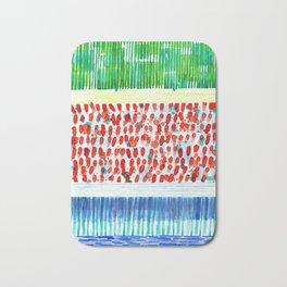Joyful Stacked Patterns in High Format Bath Mat