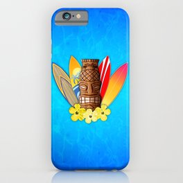 Surfboards And Tiki Mask iPhone Case