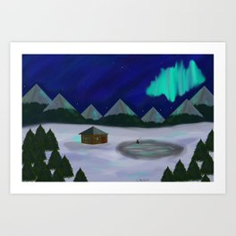 Someplace snowy, like Norway or Whatever Art Print