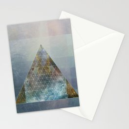 Perseid - Contemporary Geometric Pyramid Stationery Cards