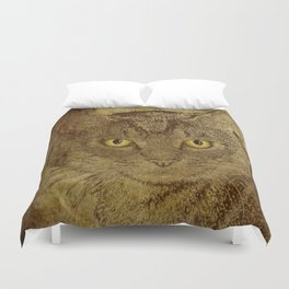 Brown Tabby Duvet Cover