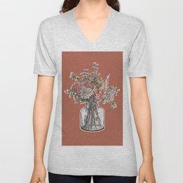 Flower Bouqet Unisex V-Neck