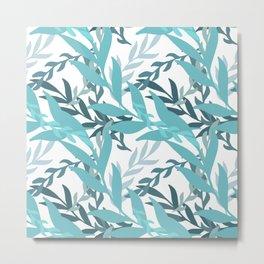 Summer Abstract Seamless Pattern Metal Print