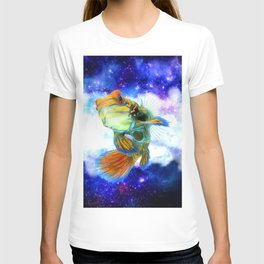 Mandarin Fish with Space Background T-shirt