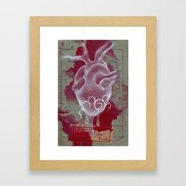 White Heart Framed Art Print