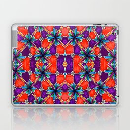 Purple and Orange Flowers Laptop & iPad Skin