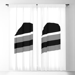 Cake Lover Monochrome Blackout Curtain