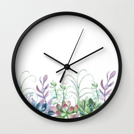 Succulents in The Garden Wall Clock