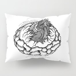 Dragon Hatchling- Latin Sayings (Dead Language) Pillow Sham
