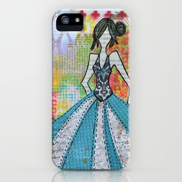 Blue Glamour iPhone Case