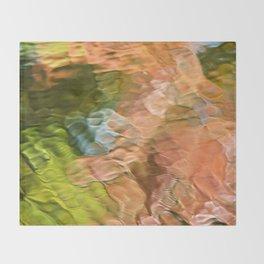 Salmon Mosaic Abstract Art Throw Blanket