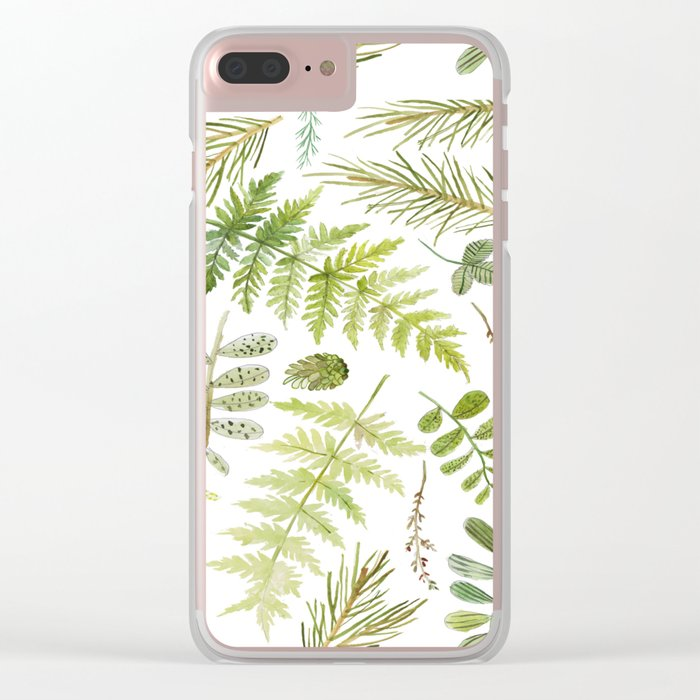 forest , pine tree, plants , green Clear iPhone Case