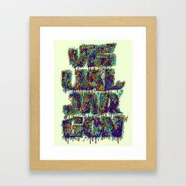 Visual Jargon Framed Art Print