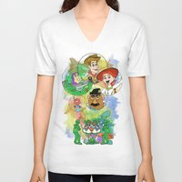 pixar V-neck T-shirts featuring Disney Pixar Play Parade - Toy Story Unit by Joey Noble