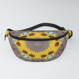 Sunflower mandala Fanny Pack
