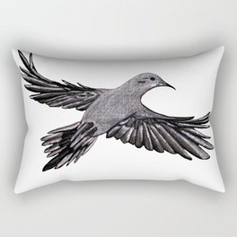 Morning Mourning Dove Rectangular Pillow
