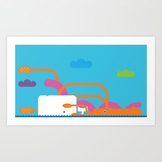 Seamonsters Art Print