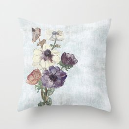 Revision of Anemones Throw Pillow